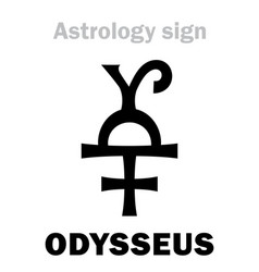 Astrology asteroid odysseus ulysses vector