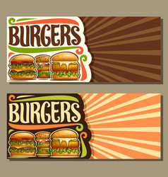 banners for burgers vector image