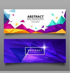 Banners triangle geometric abstract set vector