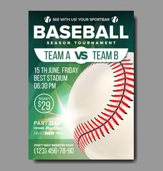 baseball poster sports bar event vector image