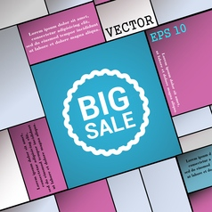 Big sale icon sign modern flat style for your vector