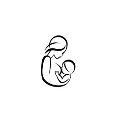 breast feeding sign vector image