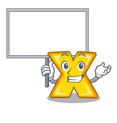 Bring board character cartoon multiply sign for vector