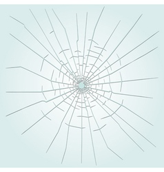 Bullet hole in glass vector image
