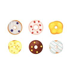 Catoon donut with glaze vector