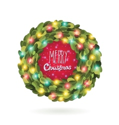 Christmas garland wreath image vector image