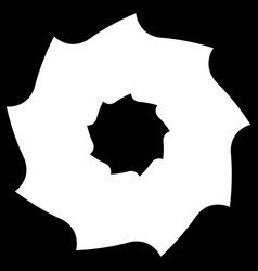 circular saw blade abstract shape symbol icon vector image