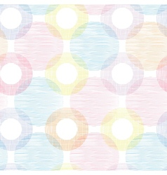Colorful textile circles seamless patter vector