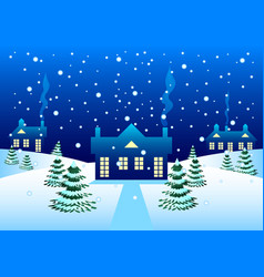 Country house in winter vector