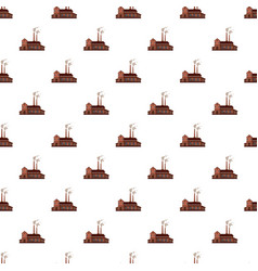 Factory building pattern vector