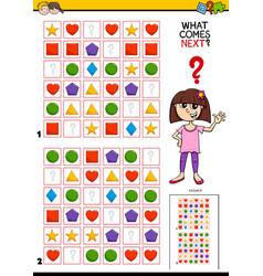 Fill pattern educational activity for children vector