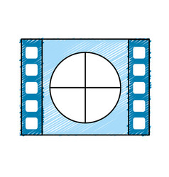 Film countdown to projection of movie vector