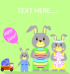 Flat Happy Easter vector image