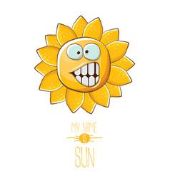 Funky cartoon style summer sun character vector
