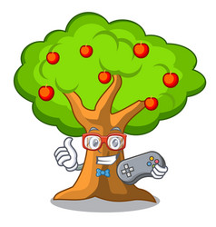 gamer apples on tree branch the character vector image
