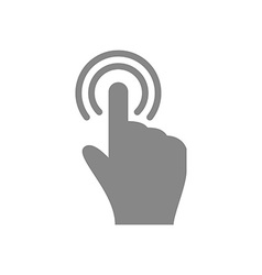 Hand touch and tap gesture line art icon for apps vector image