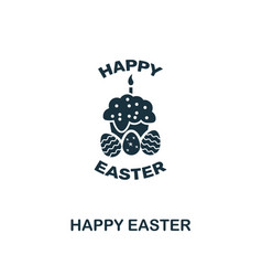 happy easter icon creative element design from vector image