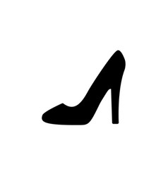 heel shoes - icon black on white background vector image