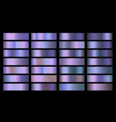 Holographic gradient set shiny vector