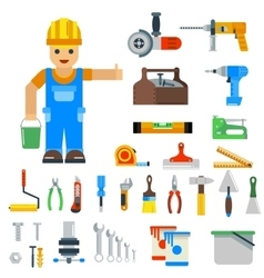 Home repair tools icons vector