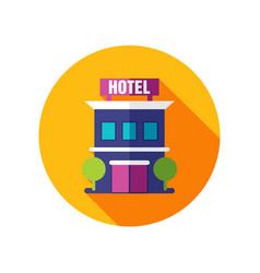 Hotel icon summer vacation vector