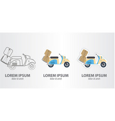 icon of a moped vector image