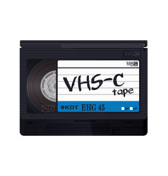 isolated vintage vhs-c tape vector image