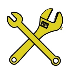 Isolated wrench tool design vector