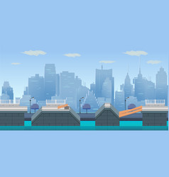 Jump city game background vector