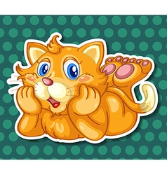 Kitten vector image