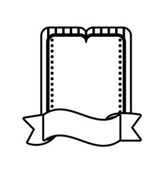 Label ribbon decoration template outline vector