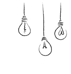 light bulbs process concept art vector image