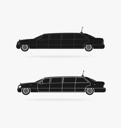 Limousine car icon vector