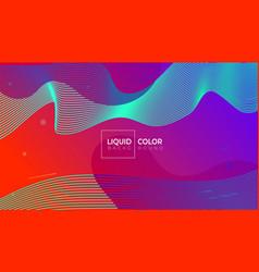 liquid gradient colorful geometric background vector image