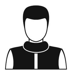 Man avatar profile icon simple style vector