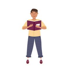 man school teacher or educator with open vector image