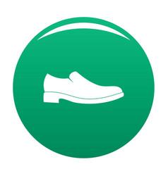 men shoe icon green vector image