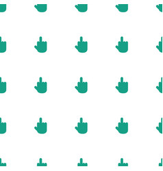 Middle finger icon pattern seamless white vector