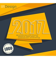 new 2017 year greeting business card vector image