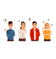 People with question marks vector