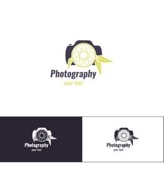 Photography logo two vector