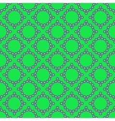 Polka dot and rhombus geometric seamless pattern vector image