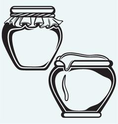 Pot of honey vector