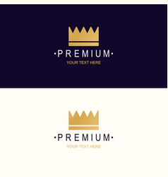 premium crown logotype vector image