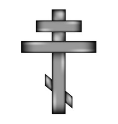 Religious orthodox cross icon sign vector