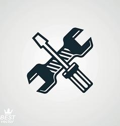Repair tools symbol vector
