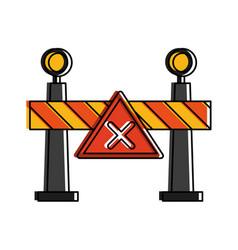 roadblock road sign icon image vector image