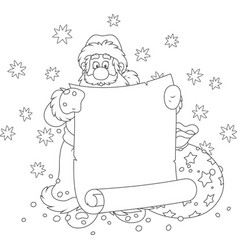 santa claus with a paper scroll vector image