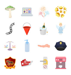 security sport trade and other web icon in vector image