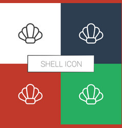 Shell icon white background vector